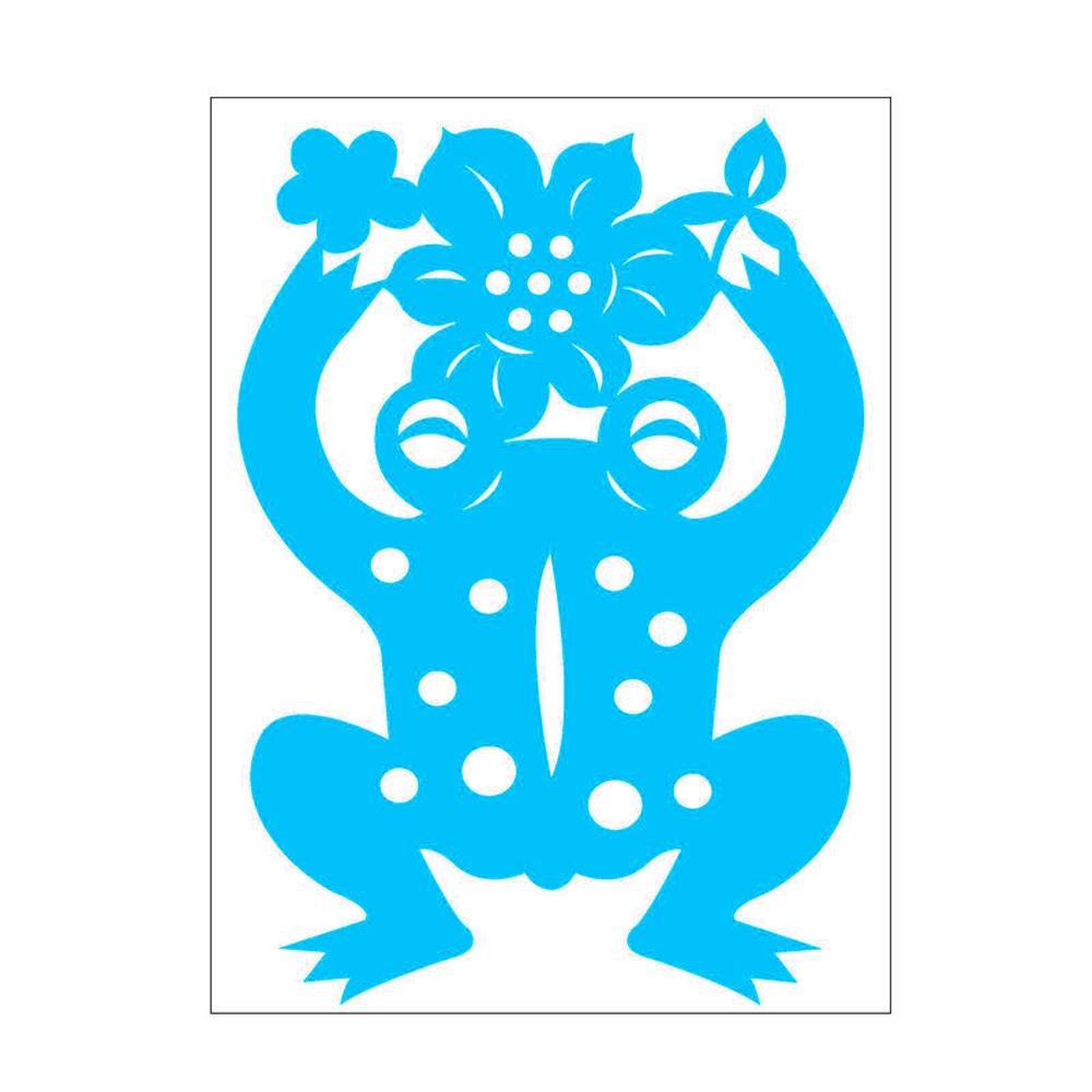 島民|剪紙靜電貼 - 青蛙 / 小 (3張)