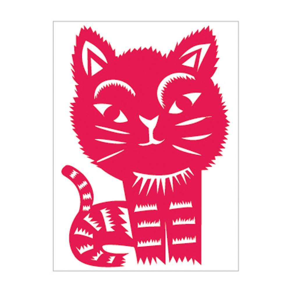 島民|剪紙靜電貼 - 貓咪 / 小(3張)