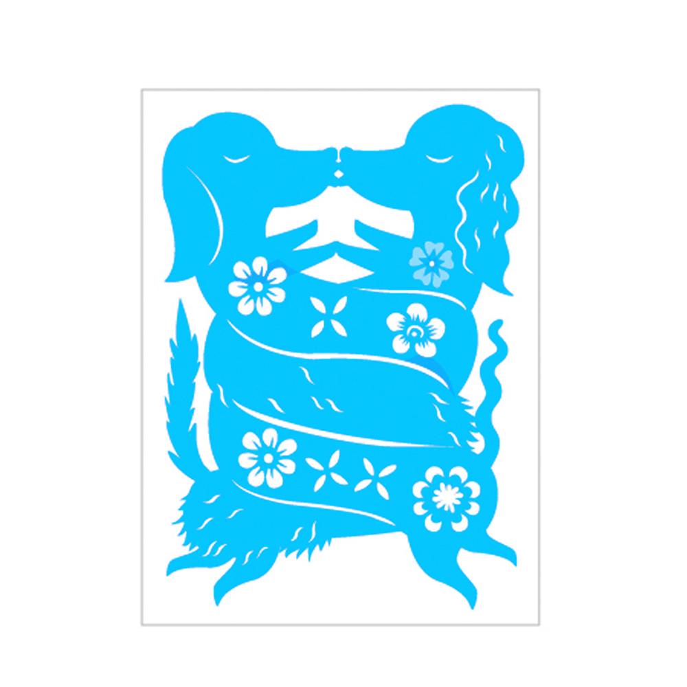 島民|剪紙靜電貼 - 臘腸狗(二) / 小(3張)