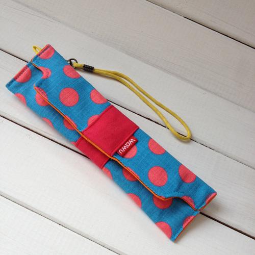 WaWu|筆袋/筷套-附繩附餐具(果醬藍)