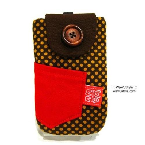 WaWu 鈕釦手機袋-附繩 (普普風)