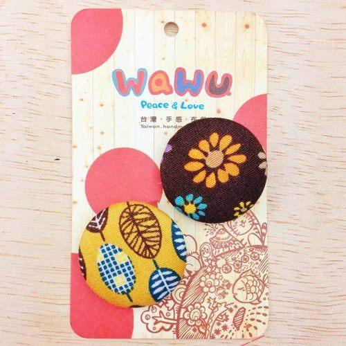 WaWu|設計師獨家手工布胸章(小) 和風小花林