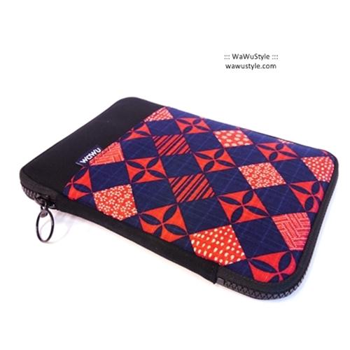 WaWu 7.9吋Mini iPad 保護包(紫紅菱格)
