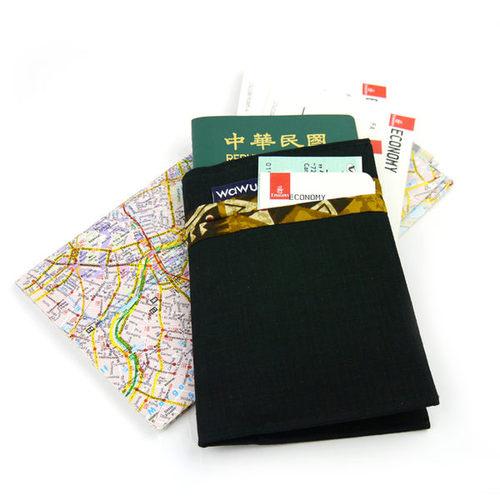 WaWu 護照套(黑)