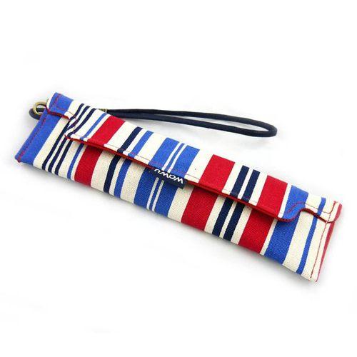 WaWu|筆袋/筷套-附繩附餐具(海洋藍)