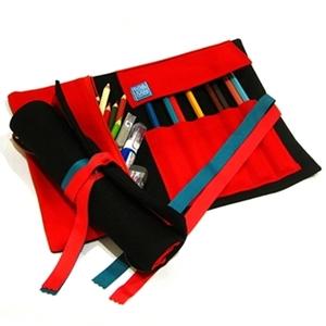 WaWu|筆捲/工具袋(黑色帆布)