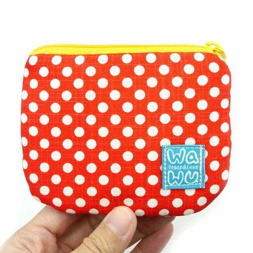 WaWu|小零錢包 (紅色點點)