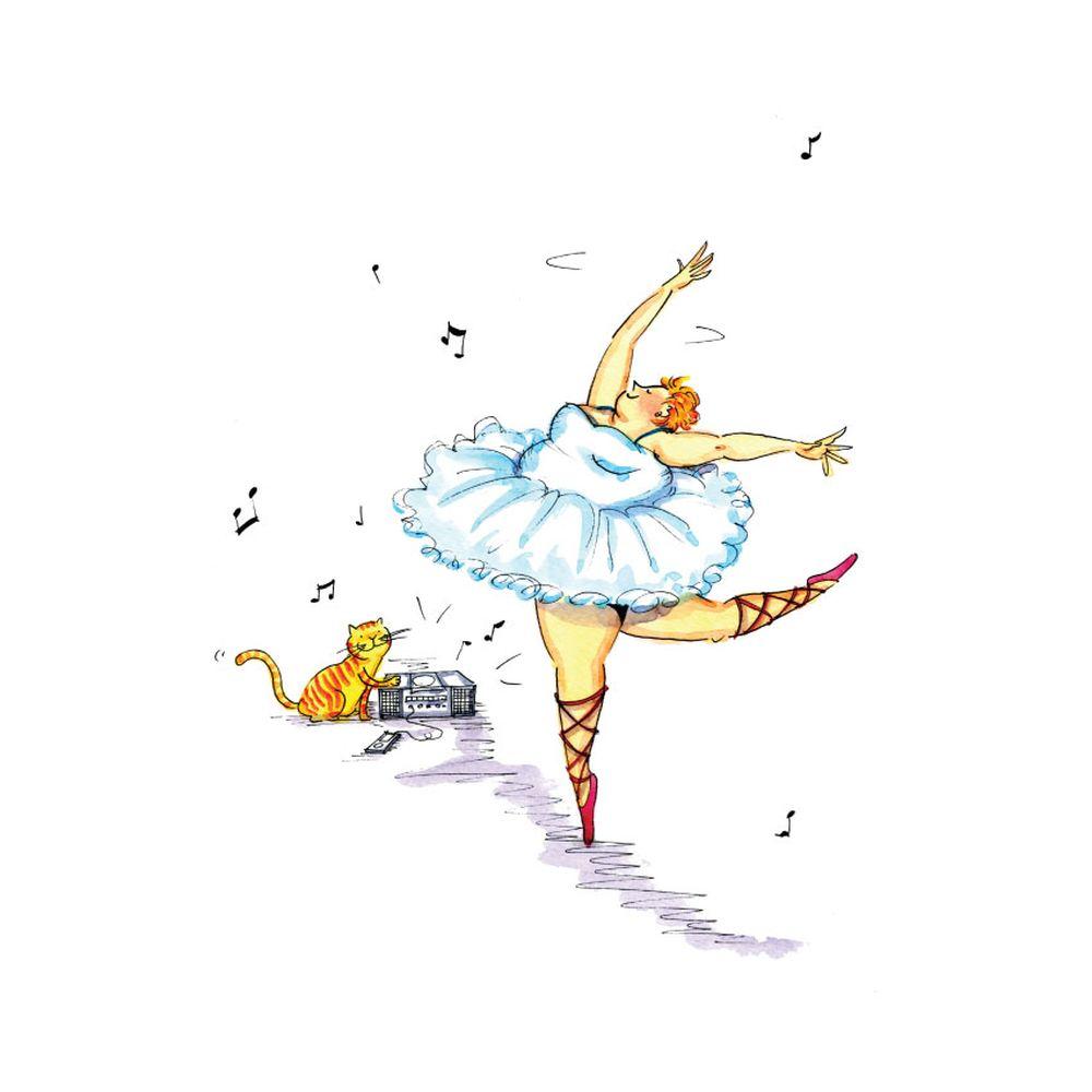 時刻創意|胖胖芭蕾舞孃-系列套裝 共6幅