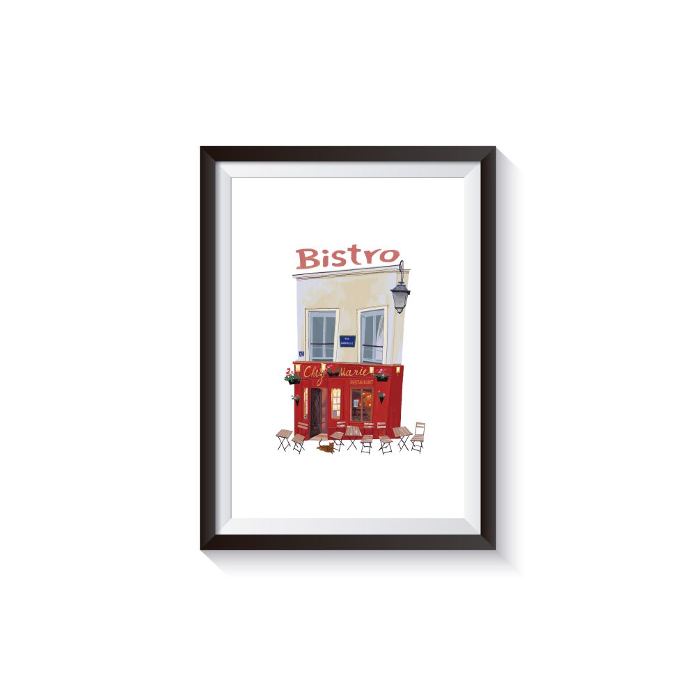 時刻創意|巴黎店鋪-系列01 Bistro