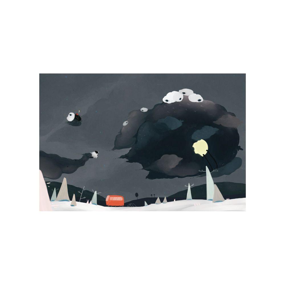 時刻創意 等公車系列-黑羊偷走月亮