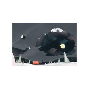 時刻創意|等公車系列-黑羊偷走月亮