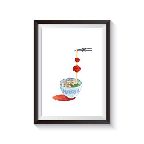時刻創意|Delicious World 系列-中國燈籠麵線