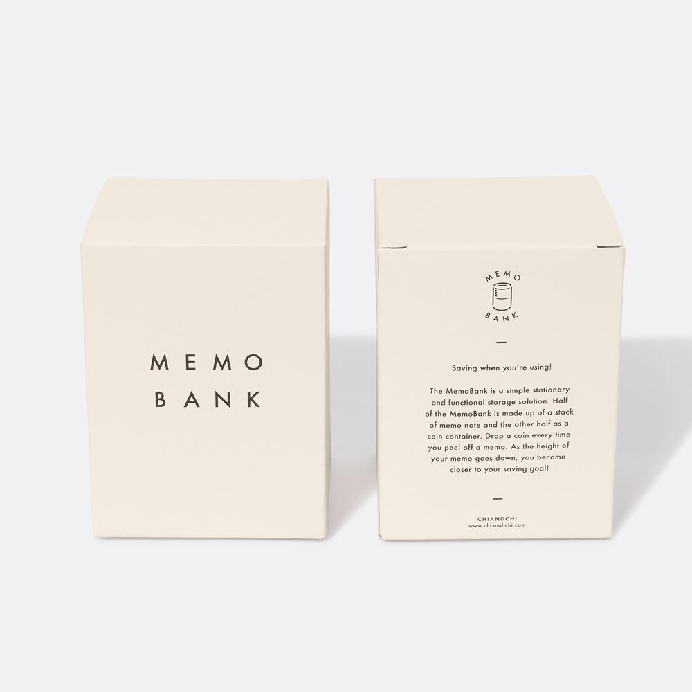 chiandchi|Memo Bank 便利貼存錢筒(桃)