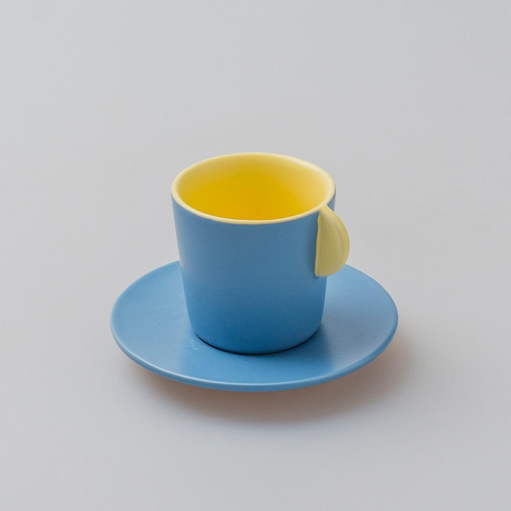 chiandchi Espresso Cup and saucer 濃縮咖啡杯和盤子套裝(黃色)