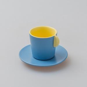 chiandchi|Espresso Cup and saucer 濃縮咖啡杯和盤子套裝(黃色)