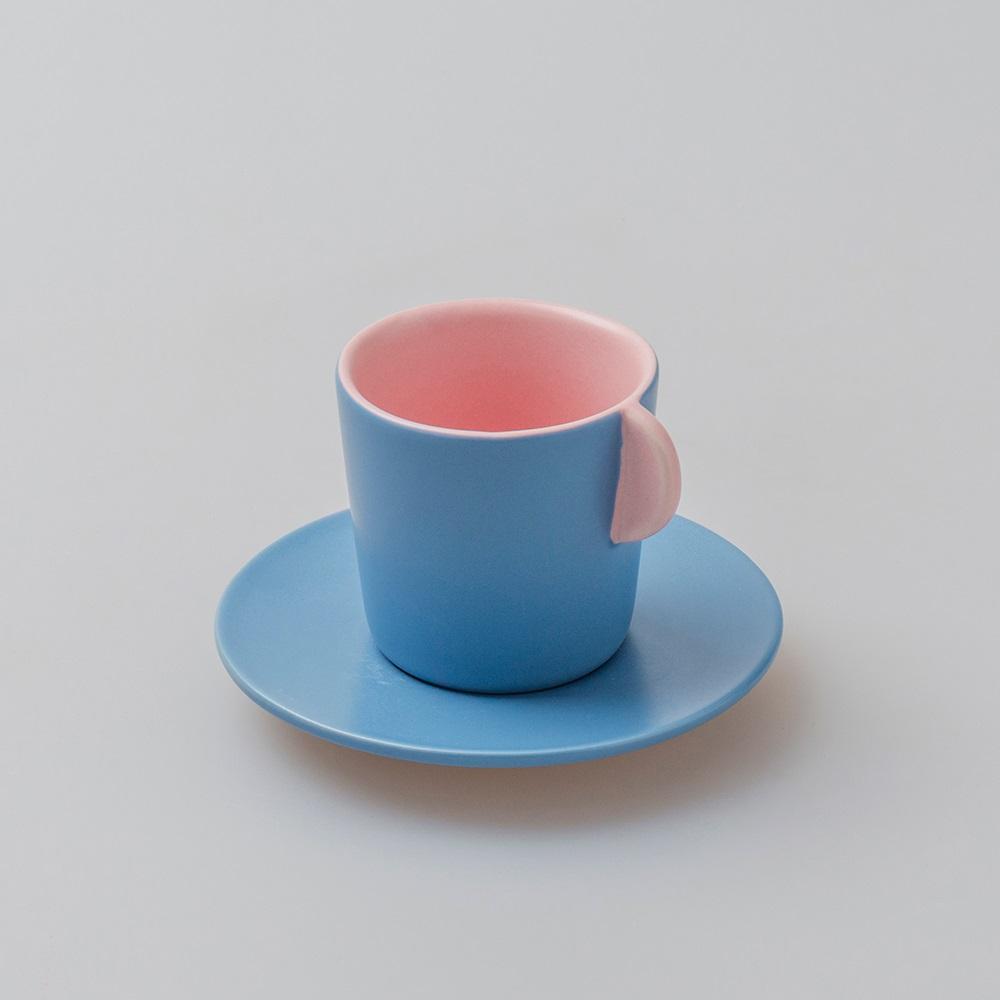 chiandchi Espresso Cup and saucer 濃縮咖啡杯和盤子套裝(桃色)