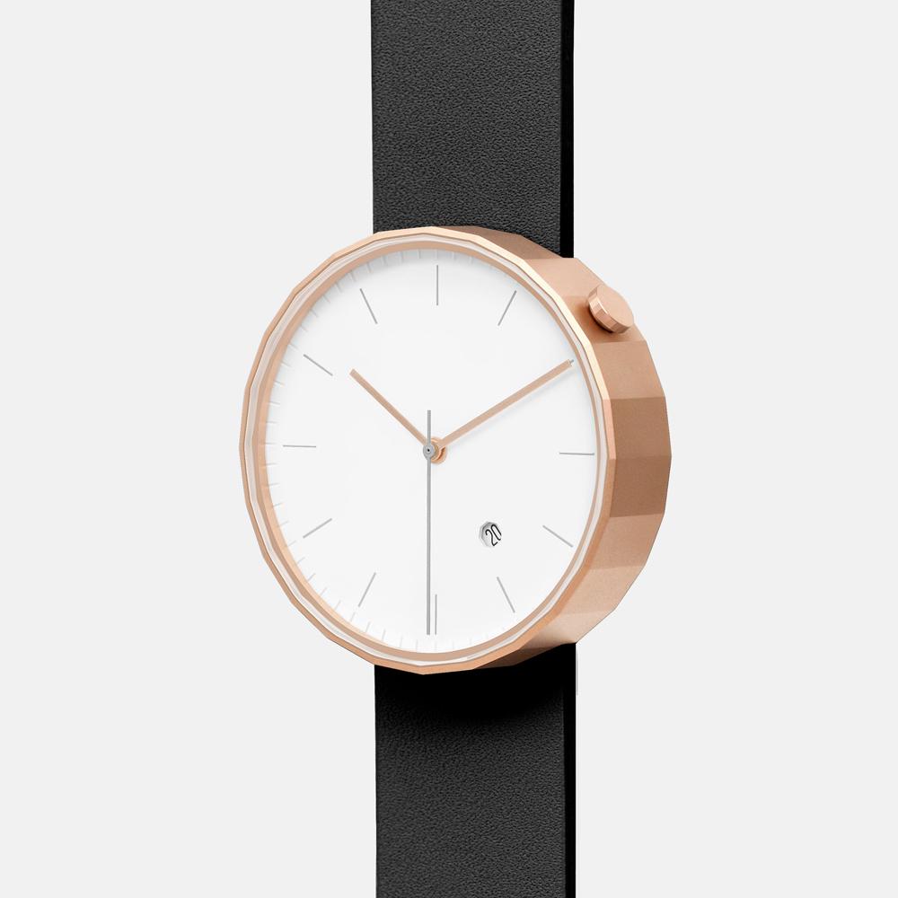 chiandchi|POLYGON-PG02 多邊手錶 (玫瑰金黑)