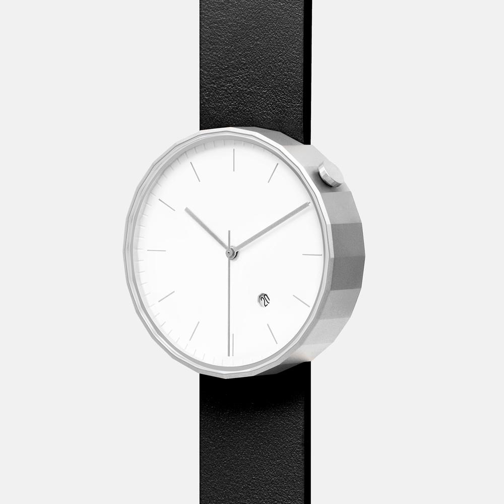 chiandchi POLYGON-PG02 多邊手錶 (銀黑)