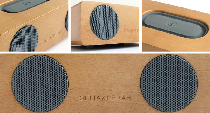 CELIA&PERAH | M2 無線高傳真實木音響-山毛櫸焦糖色