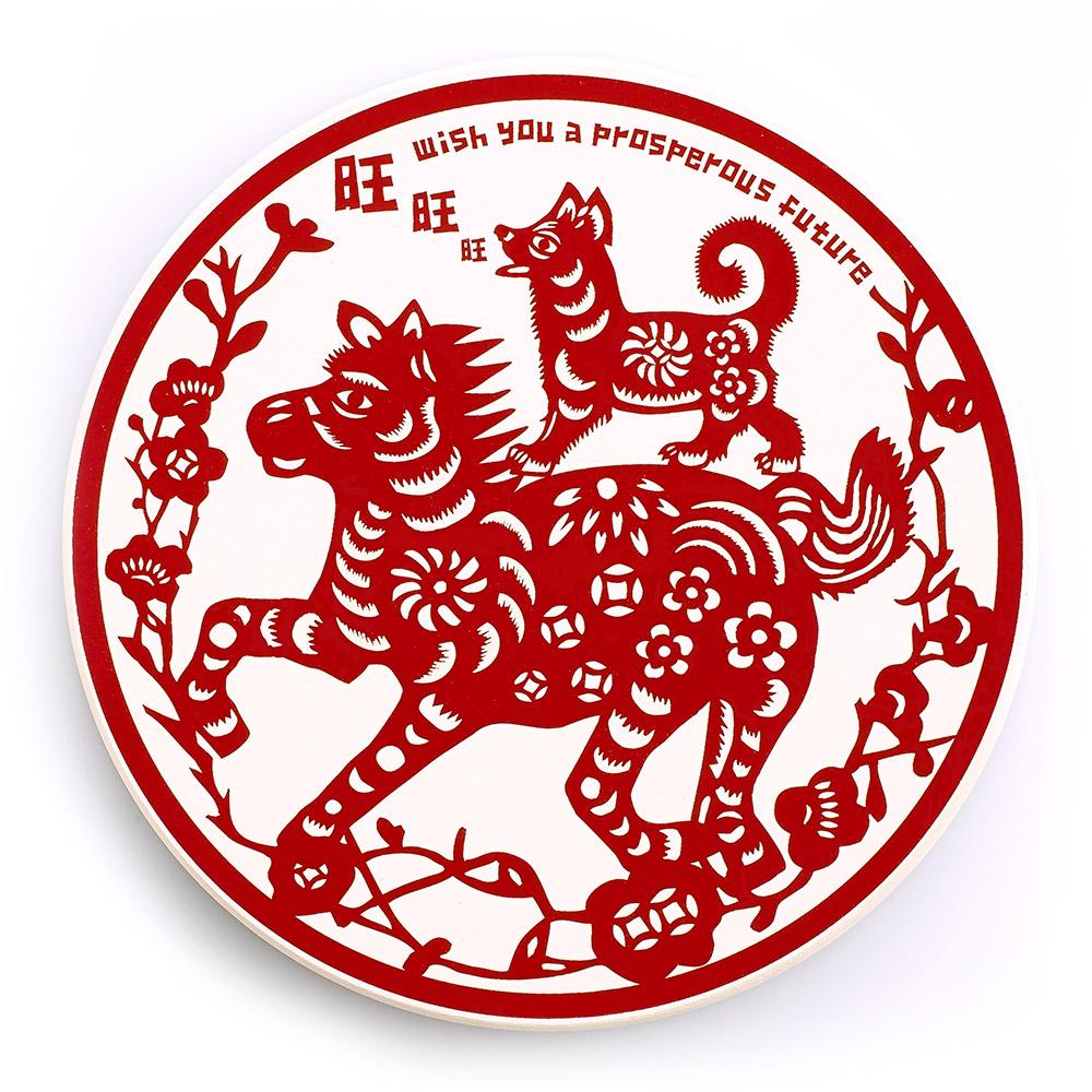 寶號BONHO 馬上旺-陶瓷吸水杯墊(開運版)