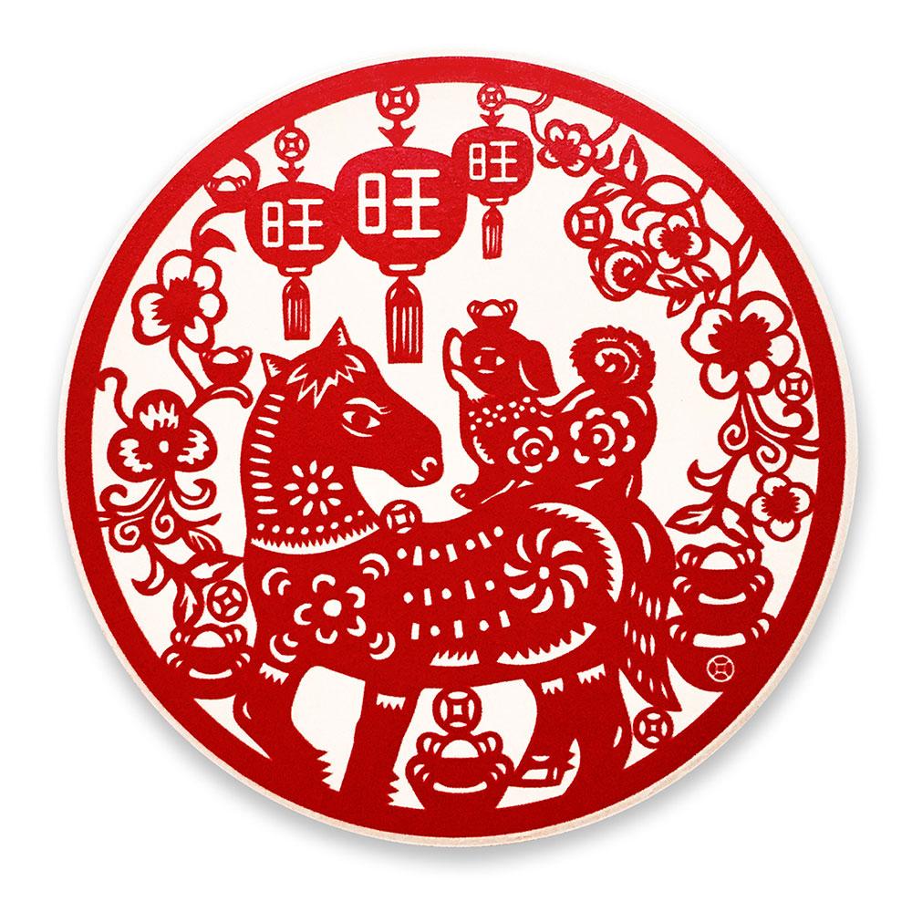 寶號BONHO|【立馬旺】陶瓷吸水杯墊(狗)