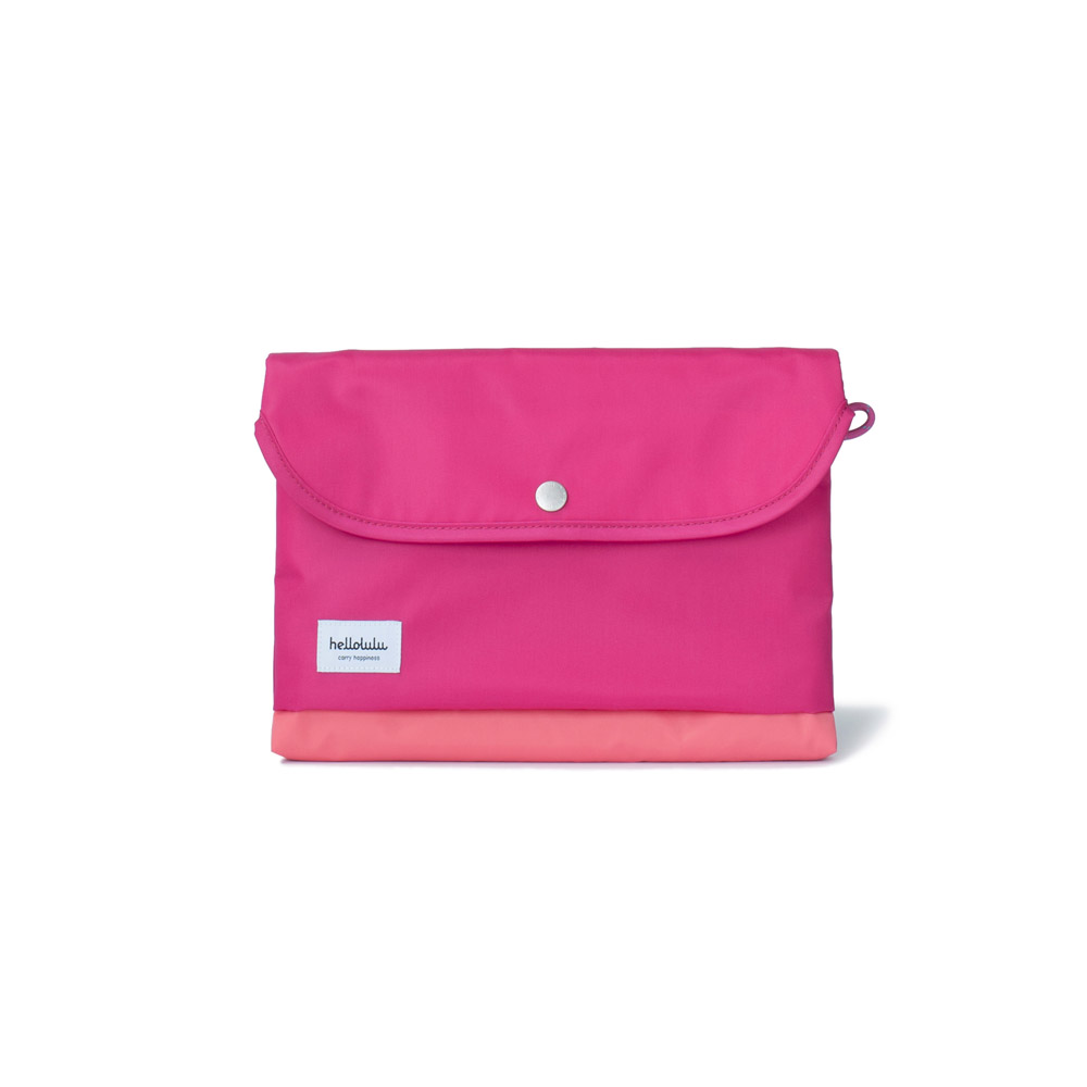 Hellolulu|Tess-iPad輕便手提包(莓紅)