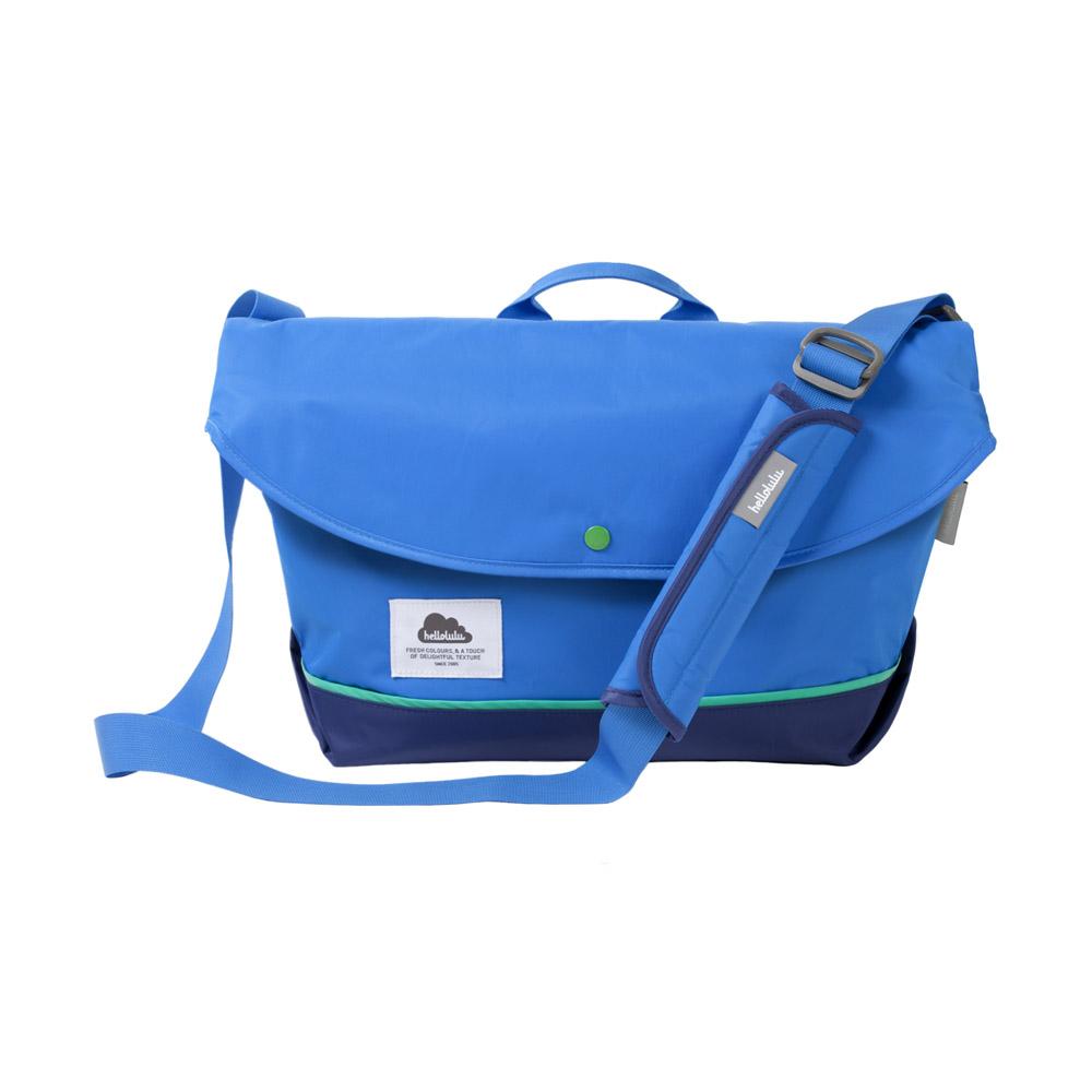 Hellolulu|HAYDEN-尼龍13筆電單車包(藍)