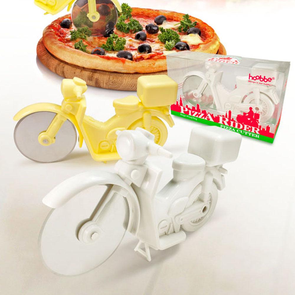 HOOBBE 外送披薩機車造型披薩刀-白