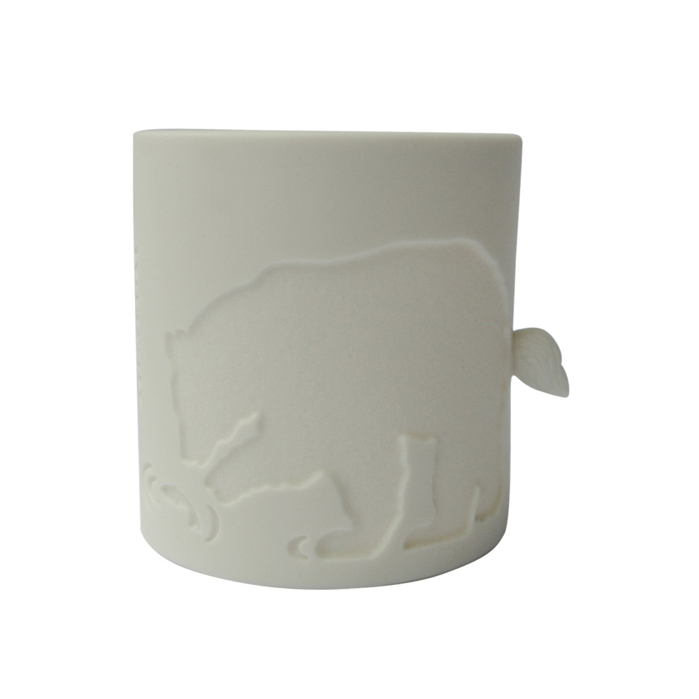 好合苑|北極熊光韻茶杯-白色
