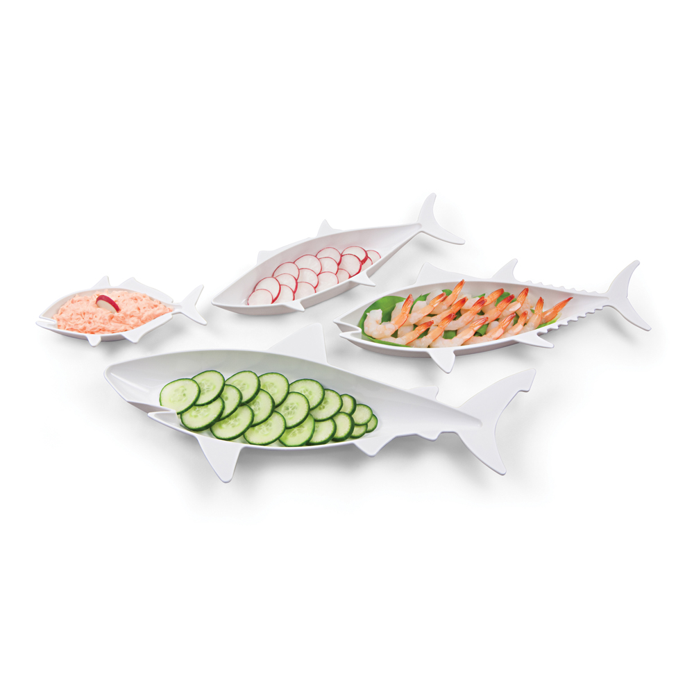 HOOBBE|食物鏈沙拉盤-白