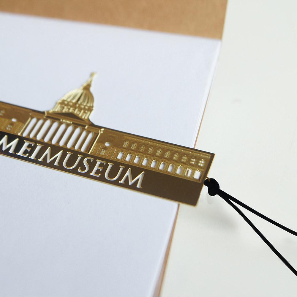 好合苑|奇美博物館金屬書籤(金色)