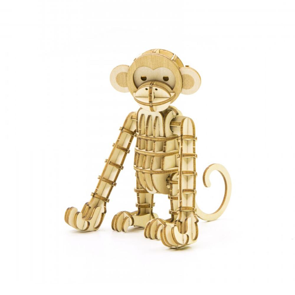 TEAM GREEN│木質3D拼圖-猴子