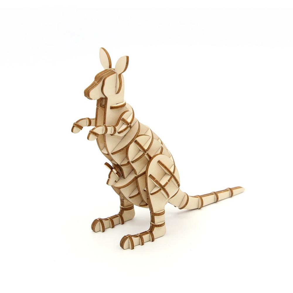 TEAM GREEN│木質3D拼圖-袋鼠