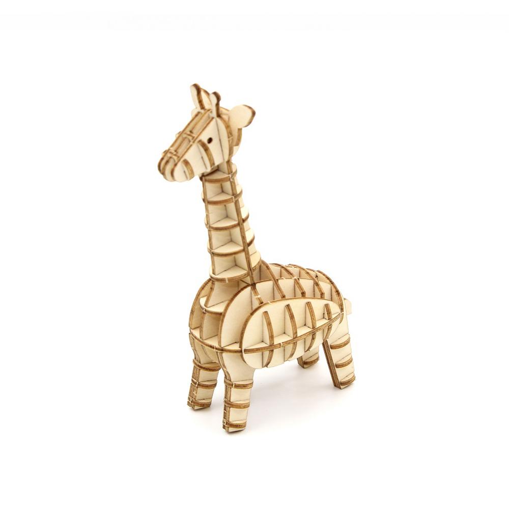 TEAM GREEN│木質3D拼圖-長頸鹿