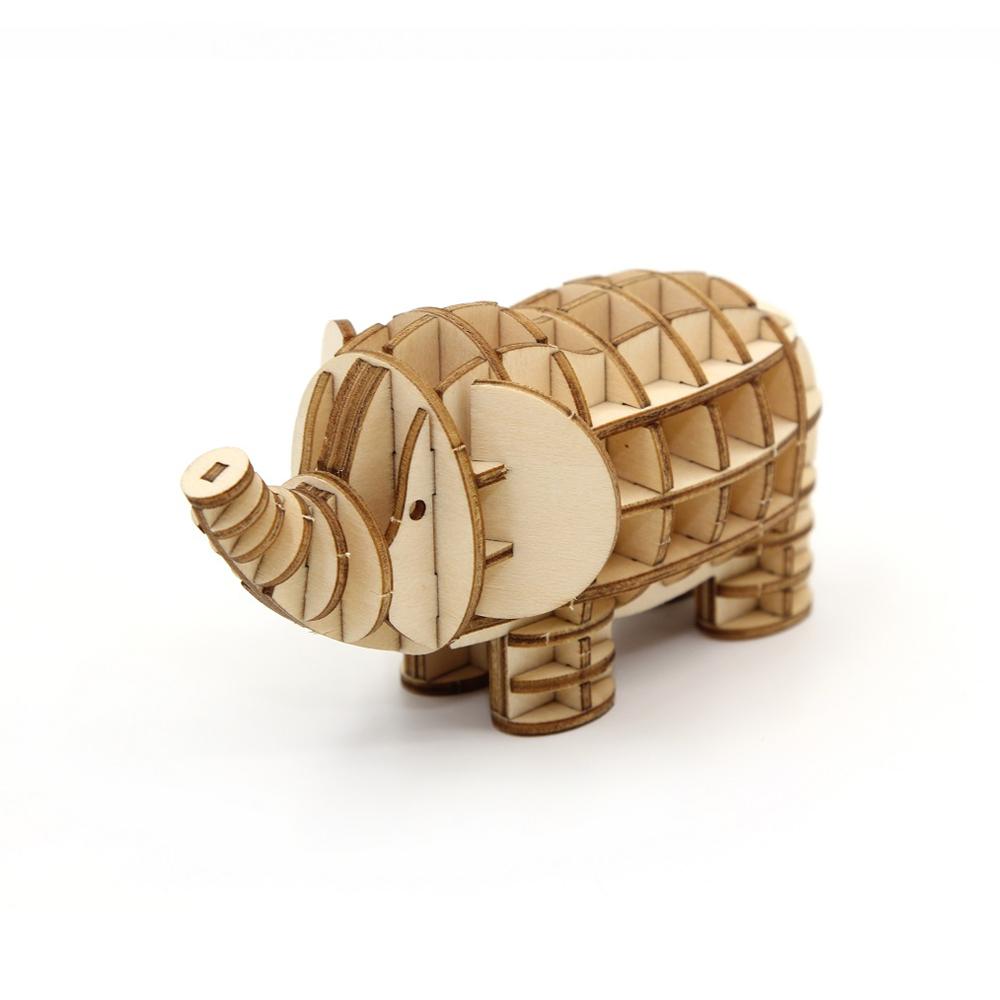 TEAM GREEN│木質3D拼圖-大象