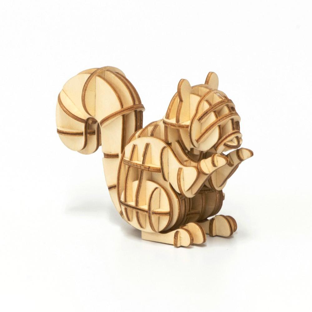 TEAM GREEN│木質3D拼圖-松鼠