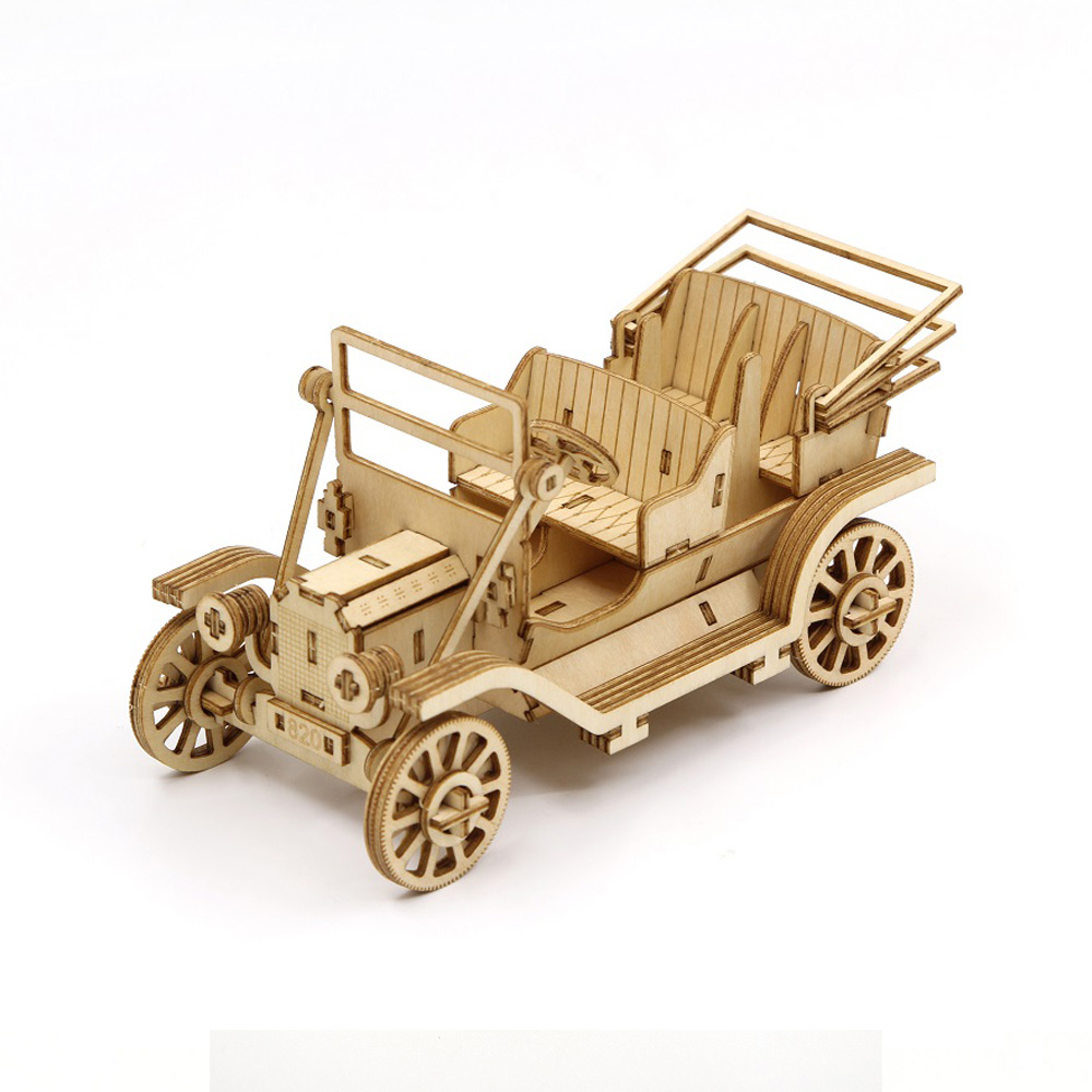 TEAM GREEN│木質3D拼圖-經典復古汽車