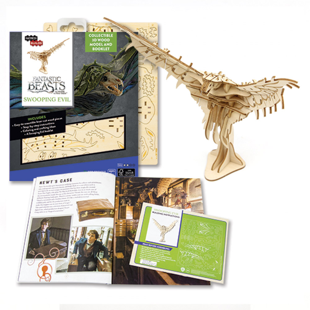 TEAM GREEN│木質3D拼圖-怪獸與牠們的產地 - 惡閃鴉