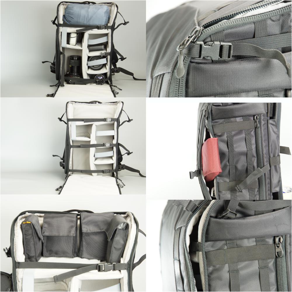Ksarkiter D504反重心式旅行相機背包-相機模式