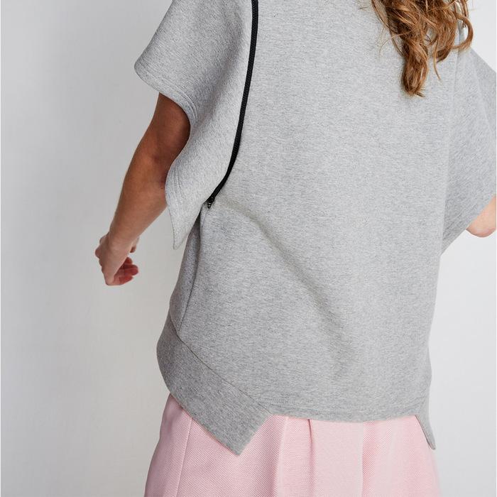 (FIT1701TP02GR)可拆式拉鍊上衣