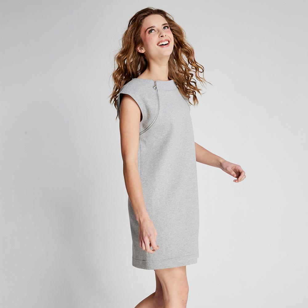 design+|可拆式拉鍊連身裙(FIT1701DS02GR)