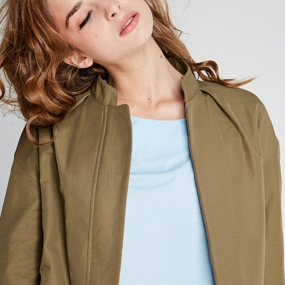 design+|軍綠捲袖襯衫(FIT1701JK02GN)