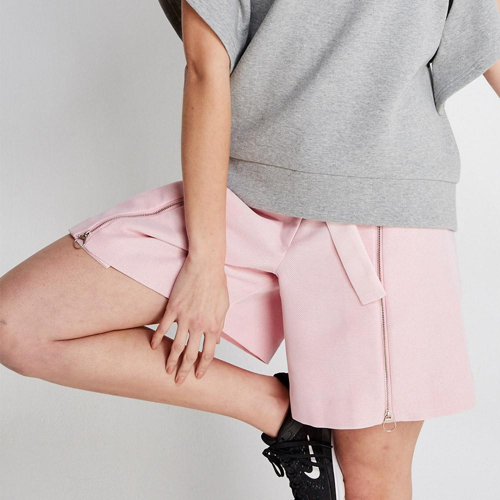 design+|腰帶設計款粉藕色褲(FIT1701PT03PK)