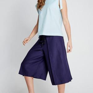 design+|深藍設計款褶褲(FIT1701PT04BL)