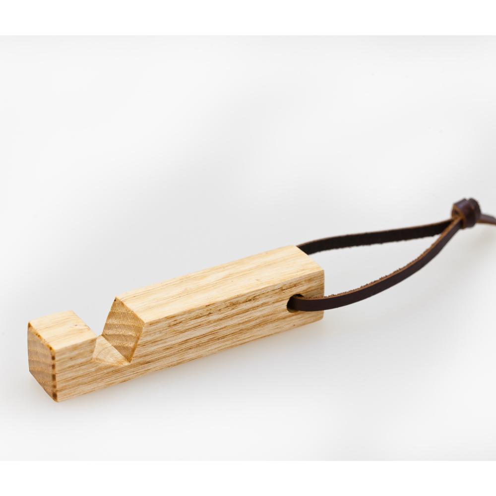 石三木廠 原木鑰匙圈兼手機座(梣木)