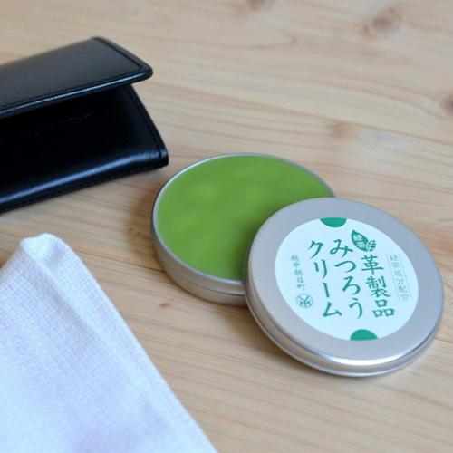 微森林|日本原裝進口天然蜜蠟霜-皮革製品專用40g綠茶