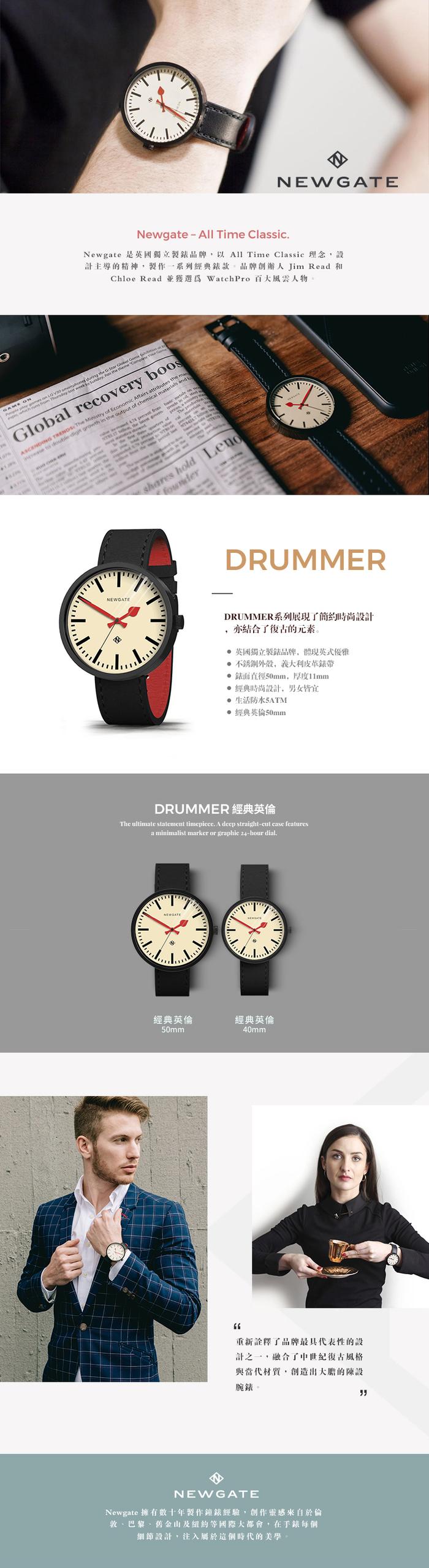 (複製)Newgate|ELECTRIC-經典復古-矽膠錶帶-41mm