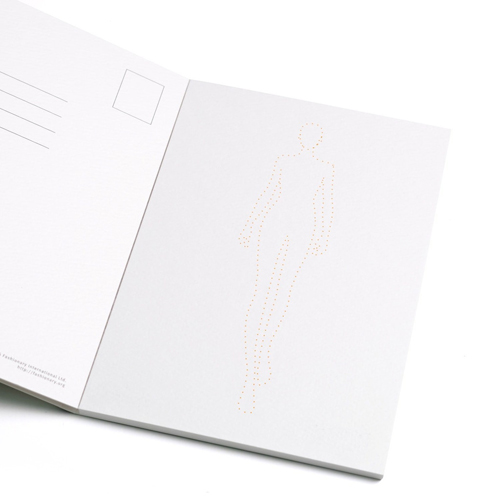 FASHIONARY|水彩紙明信片組/ 女版