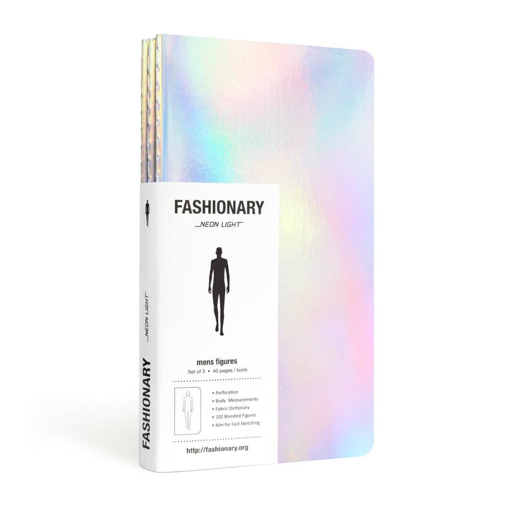 FASHIONARY 手繪本/ 男版/ A6/ 3件組/ 霓虹燈