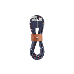 Native Union|Belt Cable充電傳輸線Lightning(海軍藍)-iPhone/iPad/iPod